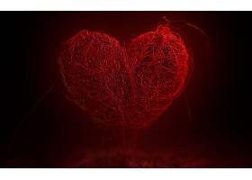 心,爱,红色,摘要,壁纸,
