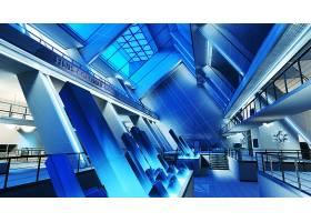 房间,CGI,建筑物,蓝色,壁纸,