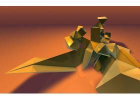 摘要,3D,数字的,艺术,CGI,壁纸,(1)