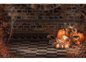 秋天,砖,南瓜,葫芦,壁纸,