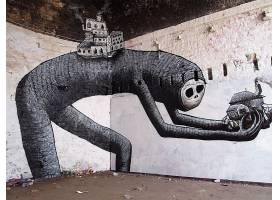 涂鸦,绊倒,引起幻觉的,城市的,城市的,艺术,令人毛骨悚然的,人,壁