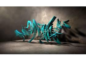 涂鸦,3D,数字的,艺术,CGI,摘要,壁纸,