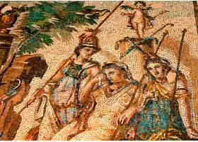 文化的,马赛克,女神,壁纸,