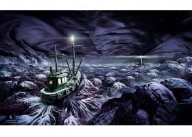 小船,壁纸,(1)