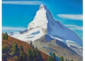 山,绘画,自然,山峰,壁纸,