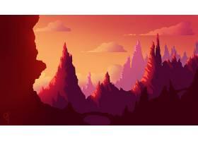 山,自然,山峰,壁纸,