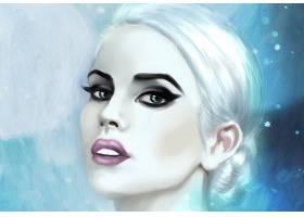 女人,绘画,妇女,女孩,肖像,口红,白色,头发,壁纸,