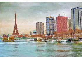 绘画,巴黎,城市,法国,河,建筑物,摩天大楼,埃菲尔铁塔,塔,壁纸,