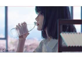 幻想,女人,妇女,女孩,喝酒,喝酒,水,瓶子,壁纸,