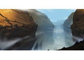 幻想,风景,峡谷,雾,桥梁,壁纸,