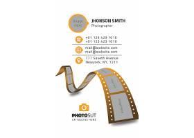 电影胶卷商务企业公司通用个人名片模板