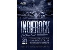 DJ狂欢派对夜主题传单海报设计