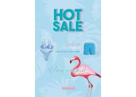 火烈鸟泳装促销主题海报设计