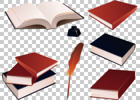 书本书籍墨水羽毛笔