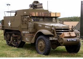 军队,M3,半程,装甲的,战斗的,车辆,壁纸,(1)