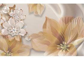 花卉主题3D家庭立体电视墙背景