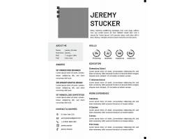 商务简洁清新通用个人英文简历模板