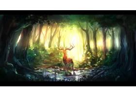 幻想,森林,壁纸,(38)