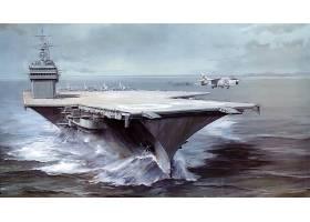 军队,一致的,州,海军,军舰,飞机,带菌者,美国军舰,萨拉托加,壁纸,