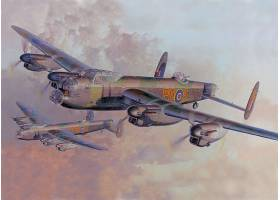 军队,Avro,兰开斯特,轰炸机,壁纸,(5)