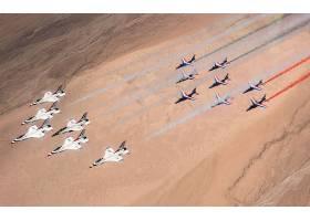 军队,一致的,州,天空,武力,雷鸟,喷气式飞机,战士,飞机,天空,显示