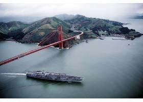 军队,美国军舰,企业,(CVN-65),军舰,一致的,州,海军,金色的,大门,