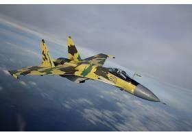 军队,苏霍伊,Su-35,喷气式飞机,战士,飞机,壁纸,(1)