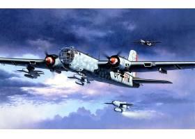 军队,亨克尔,他,177,轰炸机,壁纸,