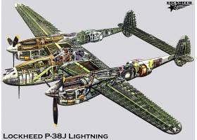 军队,洛克希德公司,P-38,闪电,军队,飞机,壁纸,(11)