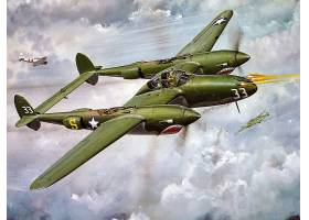 军队,洛克希德公司,P-38,闪电,军队,飞机,壁纸,(14)