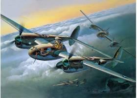 军队,洛克希德公司,P-38,闪电,军队,飞机,壁纸,(3)