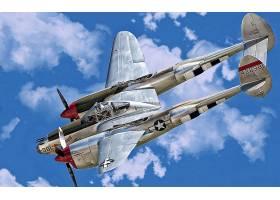 军队,洛克希德公司,P-38,闪电,军队,飞机,壁纸,(4)
