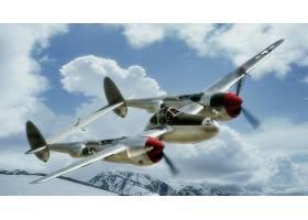 军队,洛克希德公司,P-38,闪电,军队,飞机,壁纸,(5)