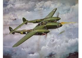 军队,洛克希德公司,P-38,闪电,军队,飞机,壁纸,