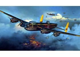 军队,Avro,兰开斯特,轰炸机,壁纸,(1)