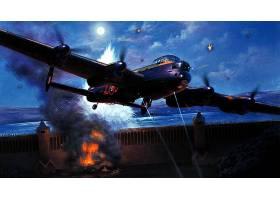军队,Avro,兰开斯特,轰炸机,壁纸,(2)