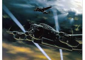 军队,Avro,兰开斯特,轰炸机,壁纸,(3)