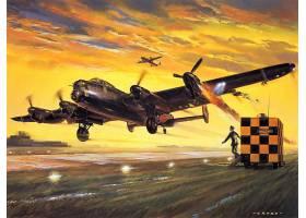 军队,Avro,兰开斯特,轰炸机,壁纸,(6)