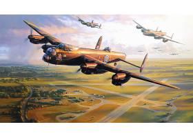 军队,Avro,兰开斯特,轰炸机,壁纸,