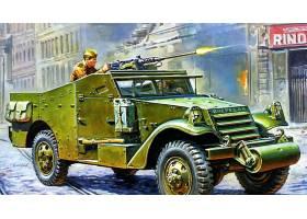 军队,半履带车,装甲的,战斗的,车辆,壁纸,