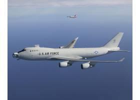 军队,波音,747-400F,军队,飞机,壁纸,