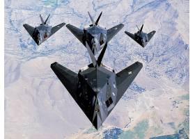 军队,洛克希德公司,F-117,夜鹰,军队,飞机,壁纸,(1)