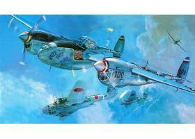 军队,洛克希德公司,P-38,闪电,军队,飞机,壁纸,(13)