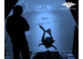 军队,天空,武力,伞降救援,壁纸,(1)