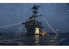 军队,美国军舰,约翰,C.,网球,(CVN-74),军舰,一致的,州,海军,海军