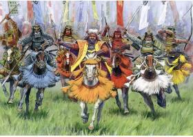 军队,军人,武士,勇士,日本,绘画,壁纸,