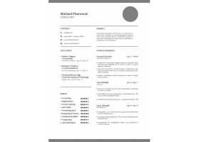 英文职业技能个人简历PSD通用模板