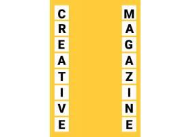 黄底大写字母简洁海报背景