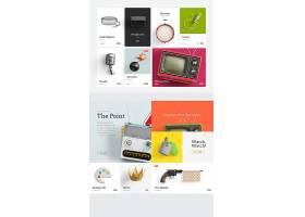 电商购物物品展示网页模板界面设计