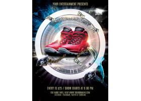 钻石美元纸钞高档鞋子海报设计